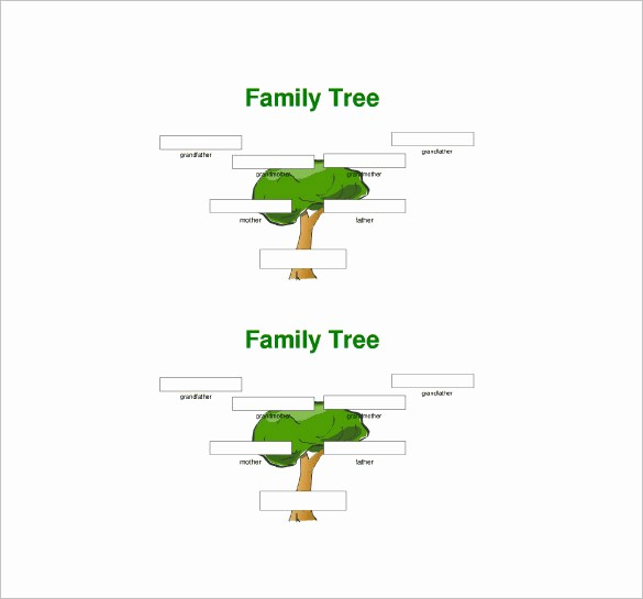 10 Generation Family Tree Template Awesome Three Generation Family Tree Template – 10 Free Word