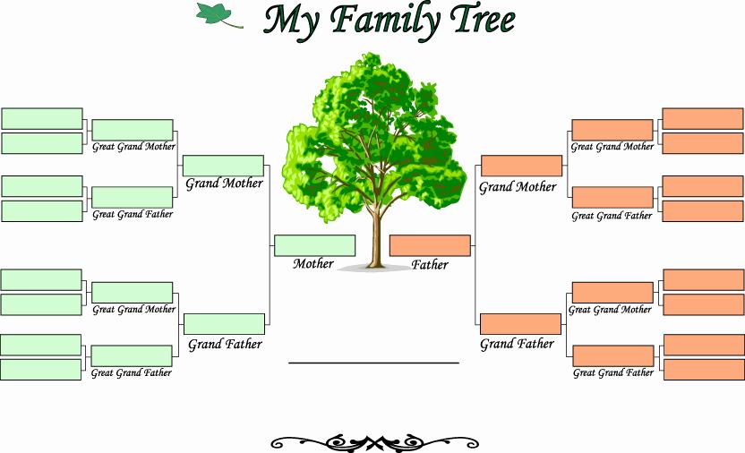 10 Generation Family Tree Template Beautiful Blank Family Tree Template