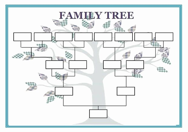 10 Generation Family Tree Template Elegant Blank Family Genogram Template