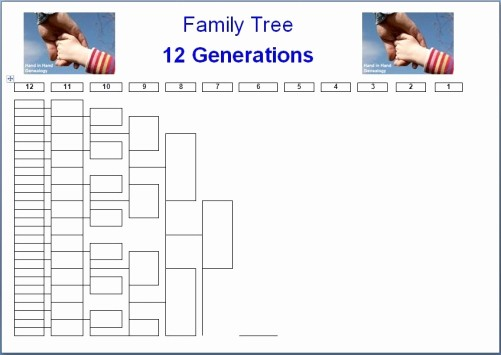 10 Generation Family Tree Template Lovely Family Tree Charts 8 Generations Emailed Parish Chest