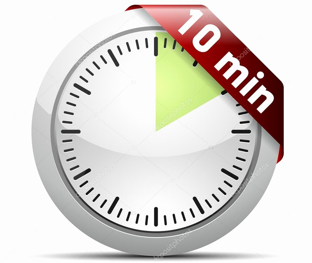 10 Minute Timer with Buzzer Awesome 10 Minutes Timer — Stock Vector © Yuriy Vlasenko