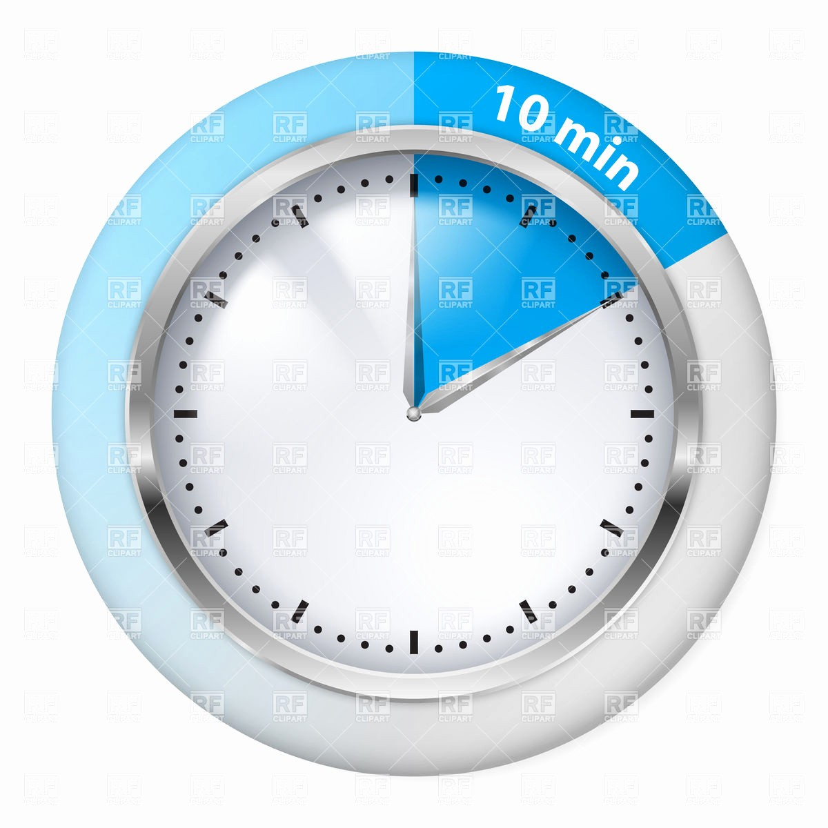 10 Minute Timer with Buzzer Beautiful Ten Minutes Timer 7342 Objects Royalty Free