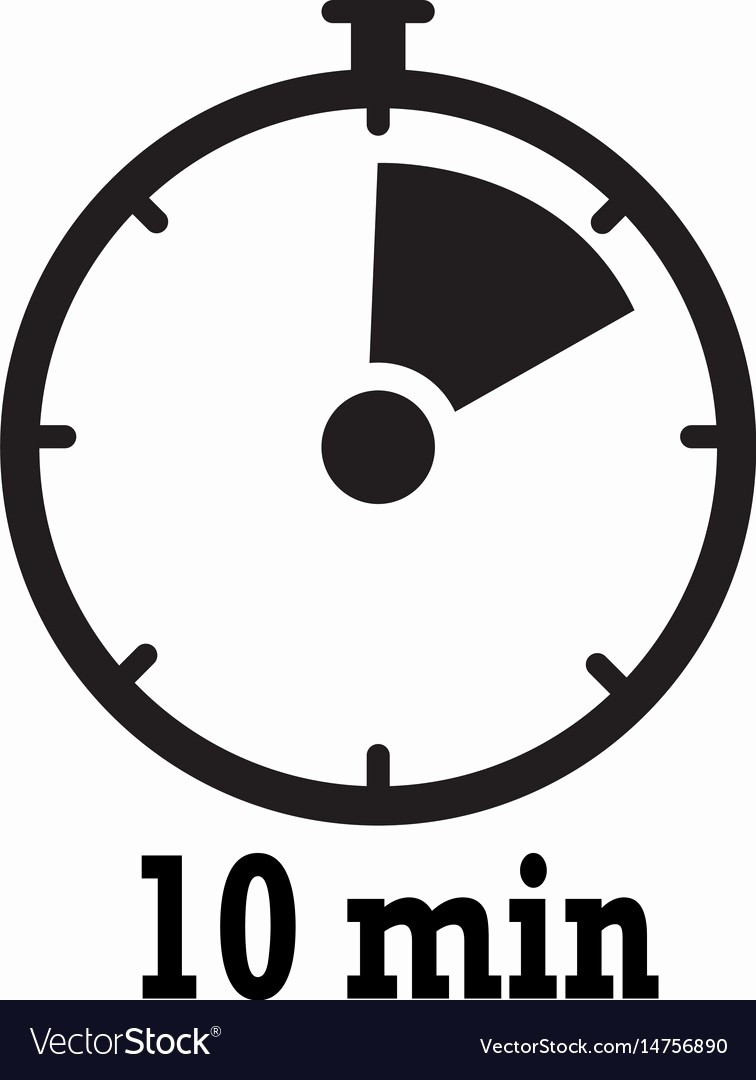 10 Minute Timer with Buzzer Best Of Timer Icon 10 Minutes Stopwatch Symbol Flat Icon Vector Image