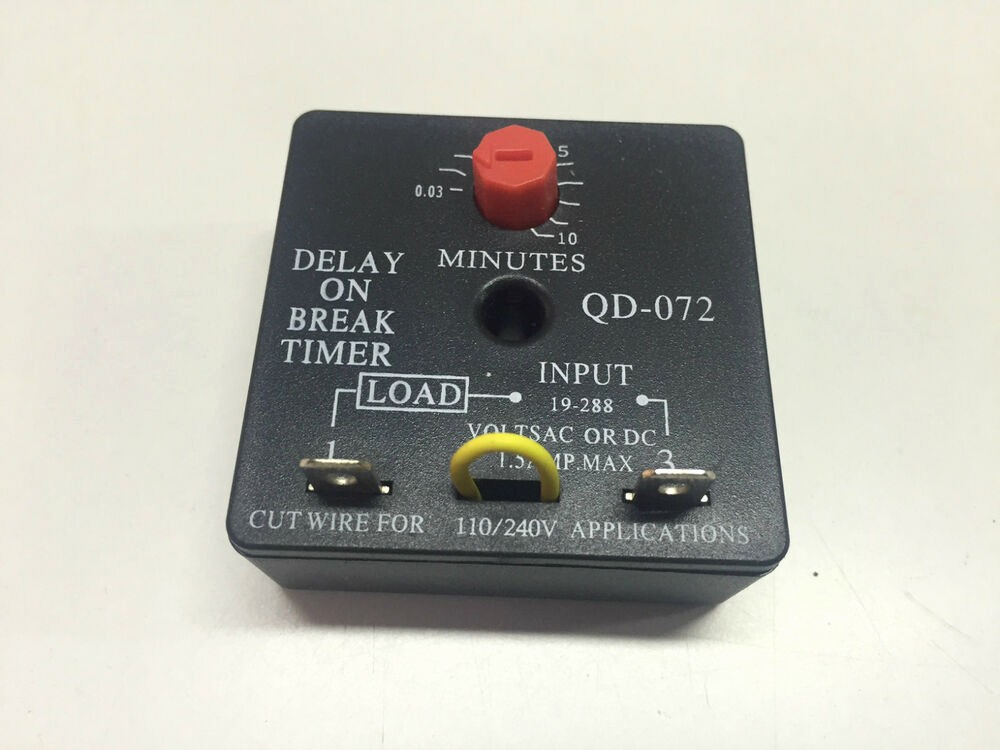 10 Minute Timer with Buzzer New Delay On Break Brake Timer with 0 03 10 Minute