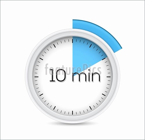 10 Minute Timer with Buzzer New Illustration Ten Minutes Timer
