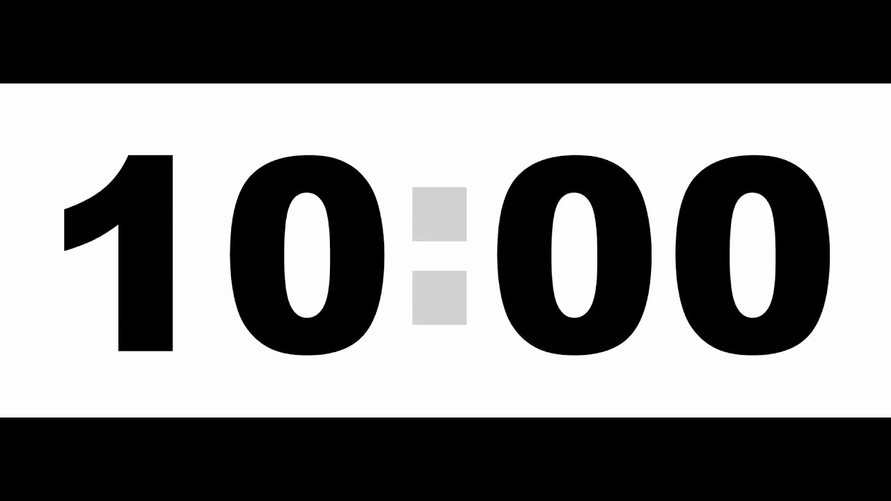 10 Minute Timer with Buzzer Unique 10 Minute Countdown Timer Black No sound Stock Footage