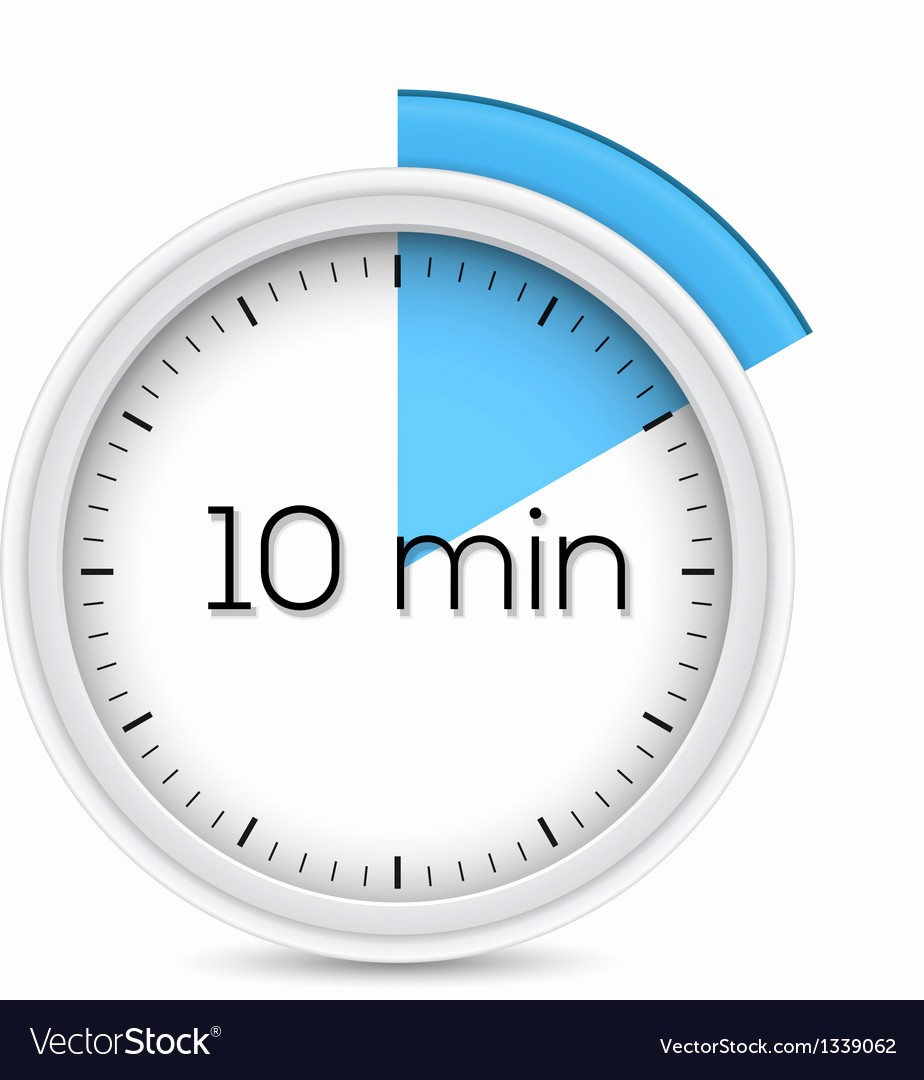 10 Minute Timer with Buzzer Unique 100 10 Minutes Clock Face Ten Minute Icon Royalty Free