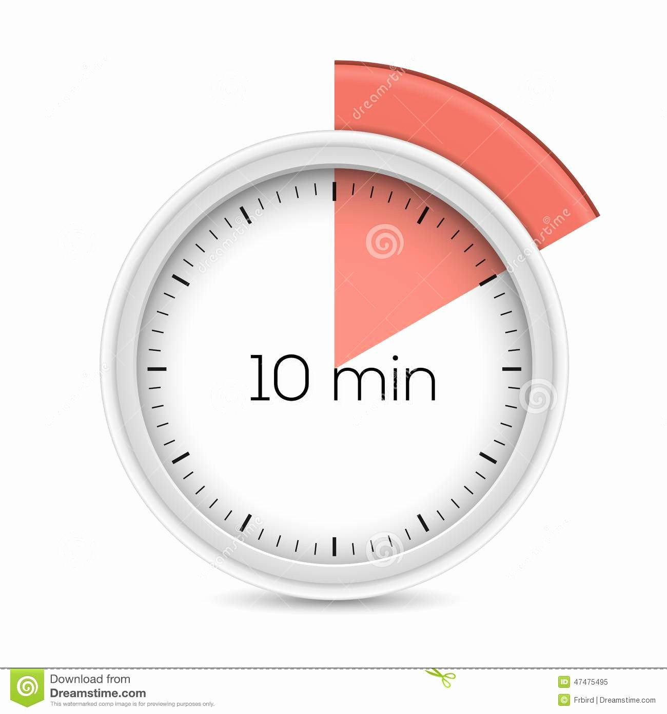 10 Minute Timer with Buzzer Unique Ten Minutes Timer Royalty Free Stock
