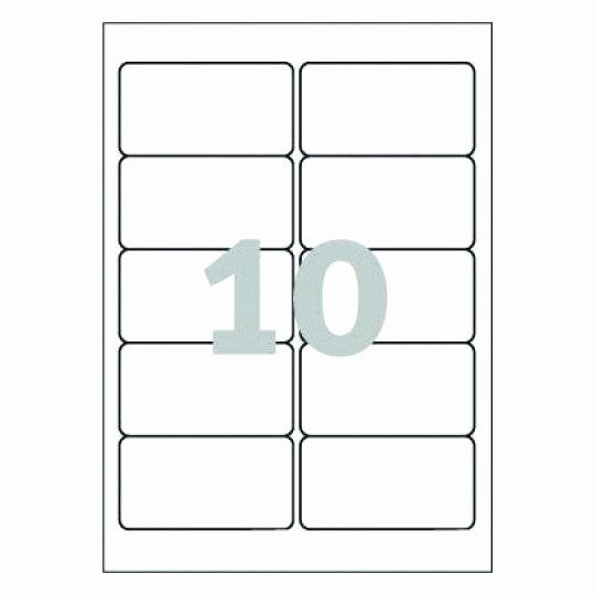 10 Per Sheet Label Template New Word Template for Avery L4785