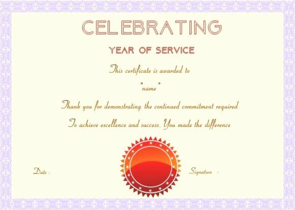employee anniversary certificate template