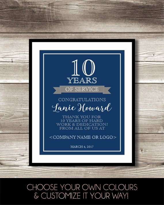 10 Years Of Service Certificate New 1000 Ideas About Work Anniversary On Pinterest