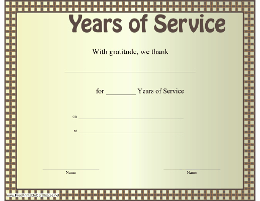 10 Years Of Service Certificate Unique 8 X 10 Certificate Template Search Results