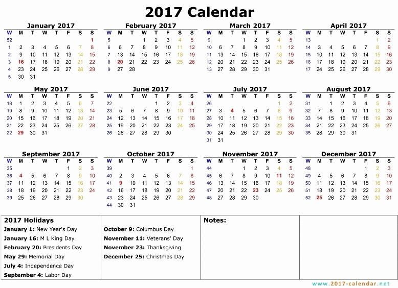 12 Month 2017 Calendar Printable Awesome 12 Month Calendar with Holidays 2018 Monthly Calendar with