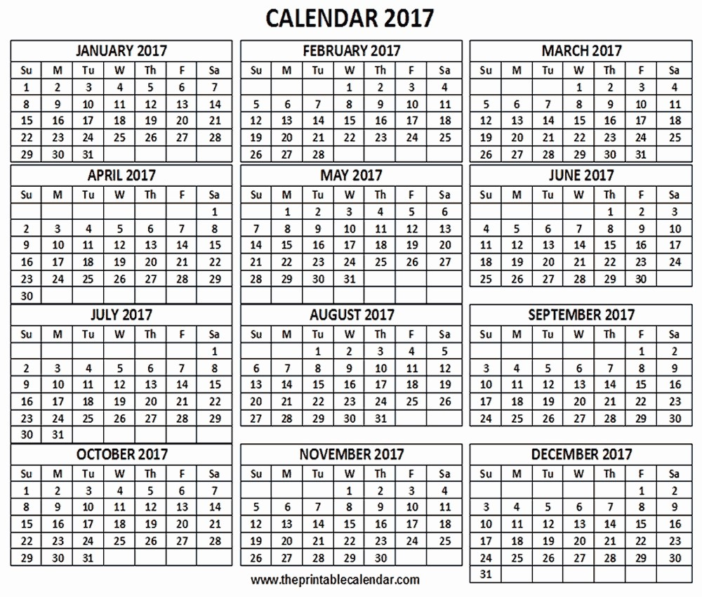 12 Month 2017 Calendar Printable Best Of 12 Month Calendar E Page