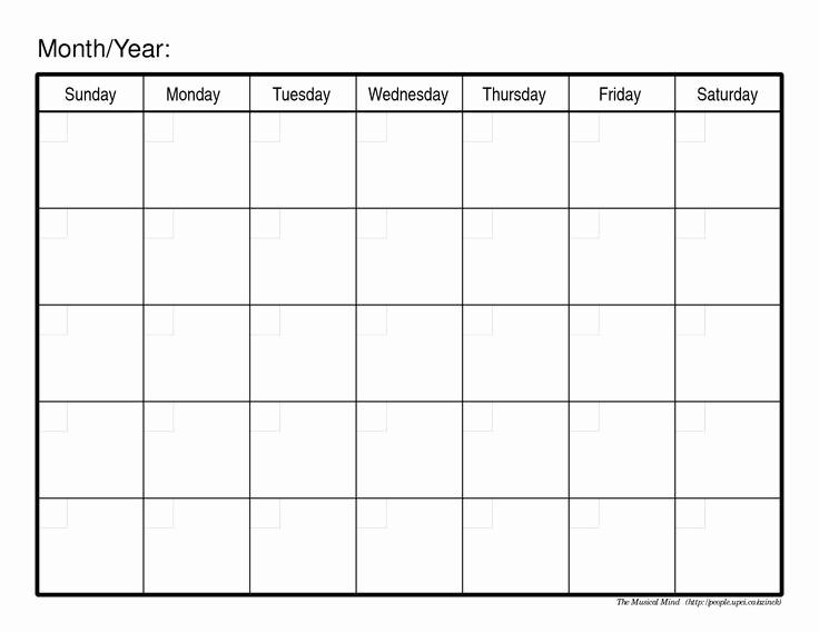 12 Month 2017 Calendar Printable Elegant Monthly Calendar Template