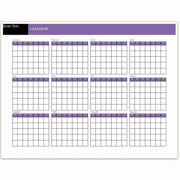 12 Month 2017 Calendar Printable Fresh Blank 12 Month Calendar