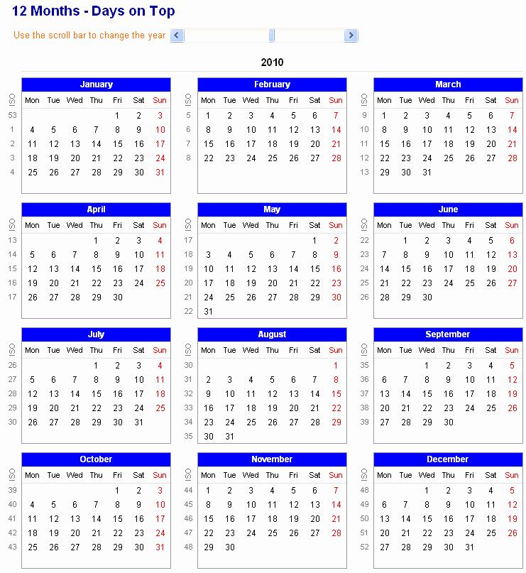 12 Month 2017 Calendar Printable Inspirational 12 Months Calendar