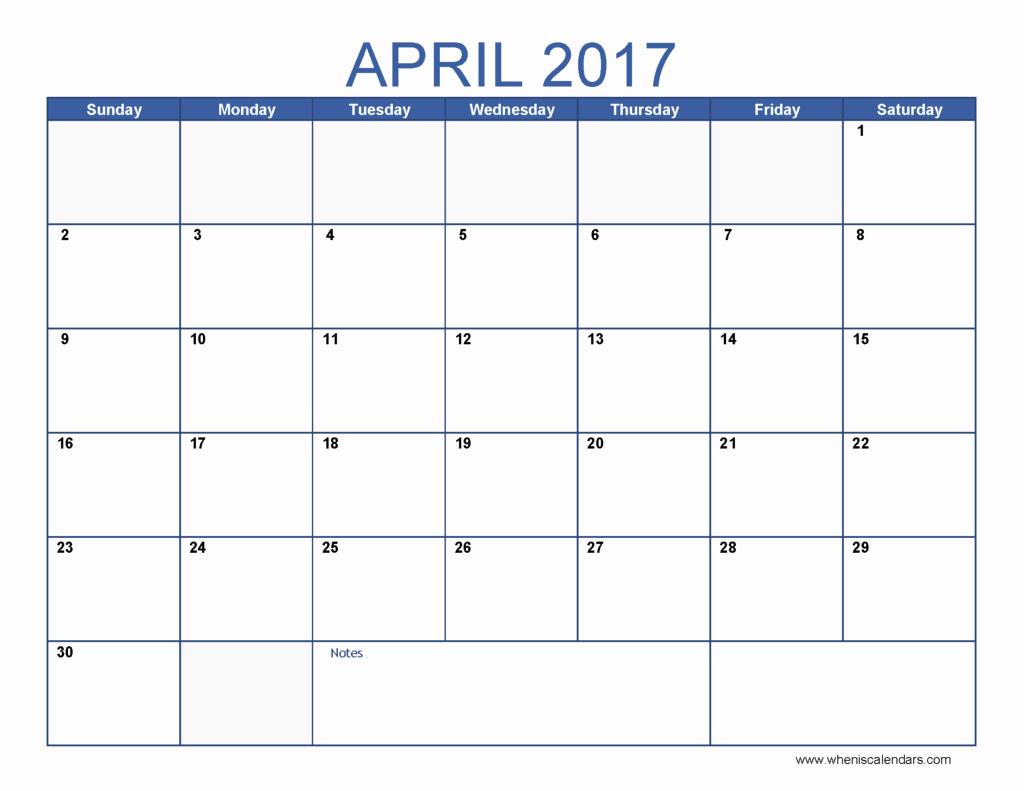 12 Month 2017 Calendar Printable Inspirational April Calendar Templates