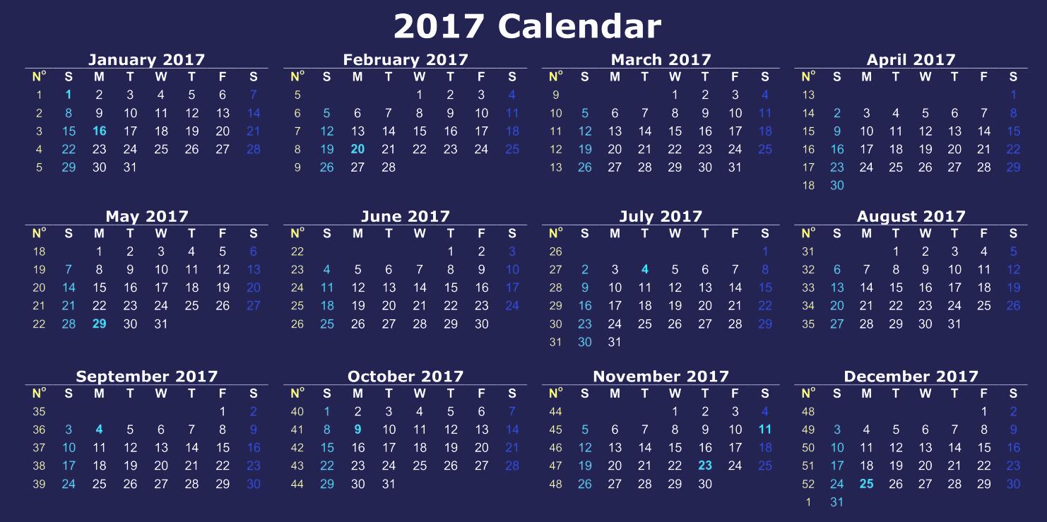12 Month 2017 Calendar Printable Lovely Printable 2017 Calendar Of 12 Months