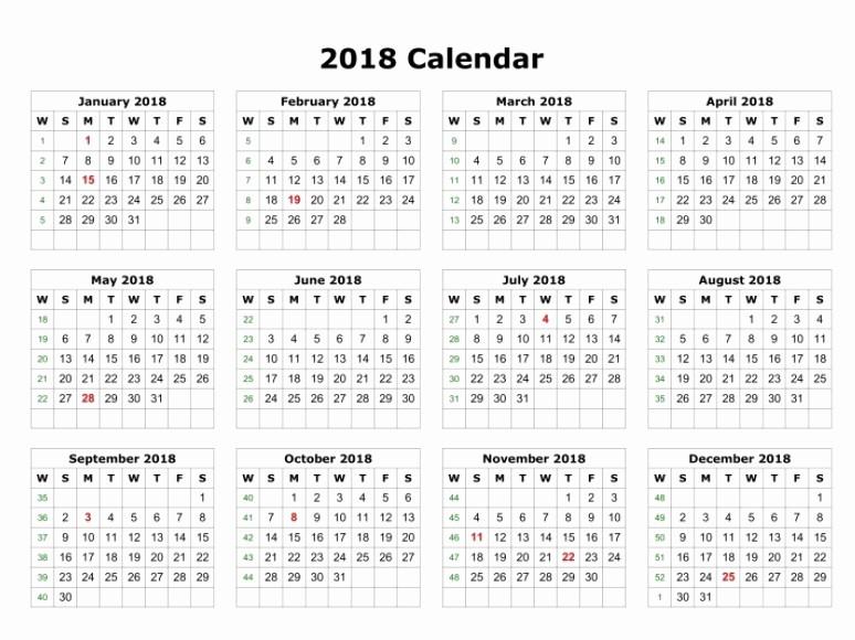 12 Month 2017 Calendar Printable Luxury 12 Month Calendar Template 2018