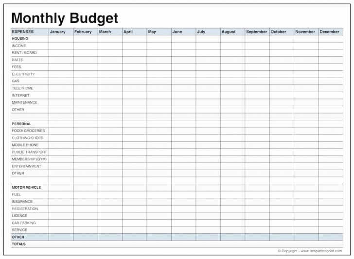 12 Month Budget Plan Template Awesome Monthly Bud Worksheet Dc Design