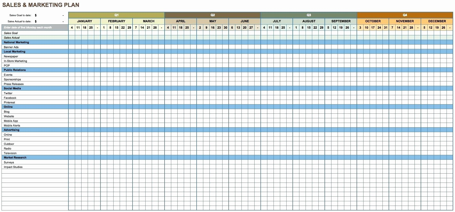 12 Month Budget Plan Template Best Of Template 12 Month forecast Template Monthly Marketing
