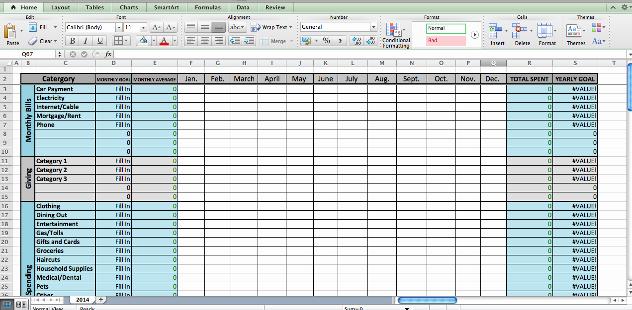 12 Month Budget Plan Template New Laura S Plans Excel Bud Template