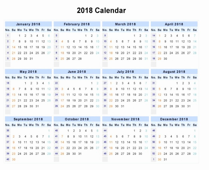 12 Month Calendar 2018 Printable Beautiful Download 12 Month Printable Calendar 2018 From January to