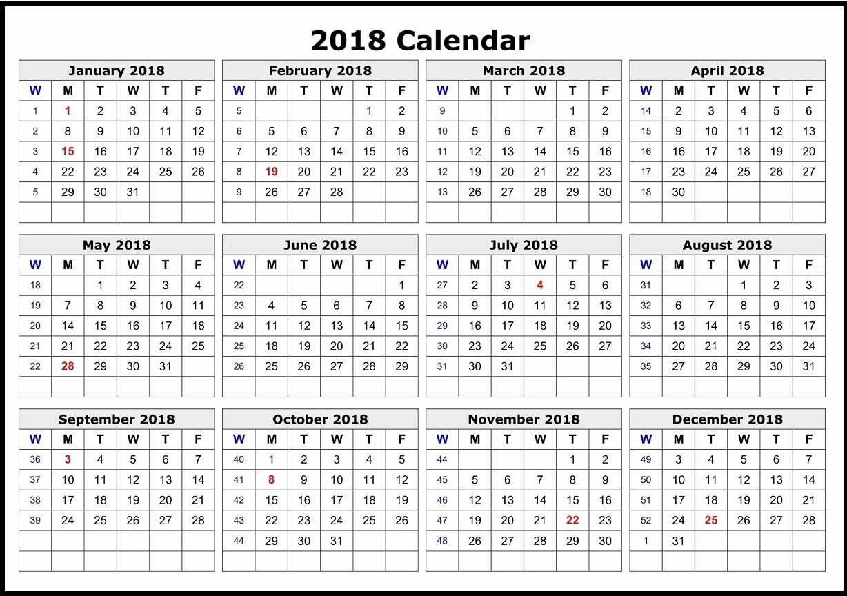 12 Month Calendar 2018 Printable Elegant Download 12 Month Printable Calendar 2018 From January to