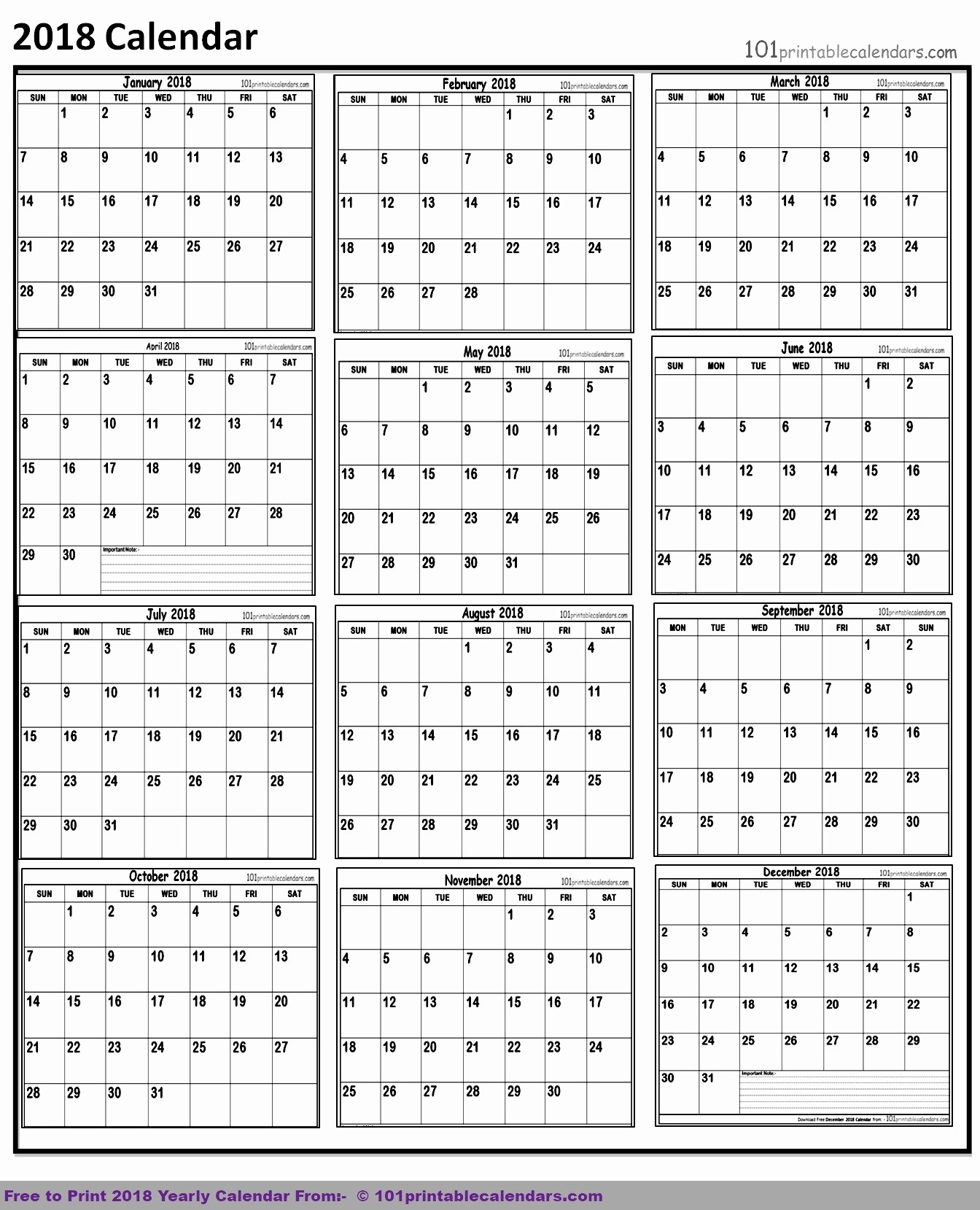 12 Month Calendar 2018 Printable New 12 Month Calendar with Lines 2018 Printable – Template