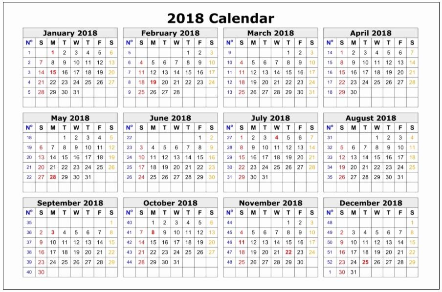 12 Month Calendar 2018 Printable Unique 12 Month Printable Calendar 2018