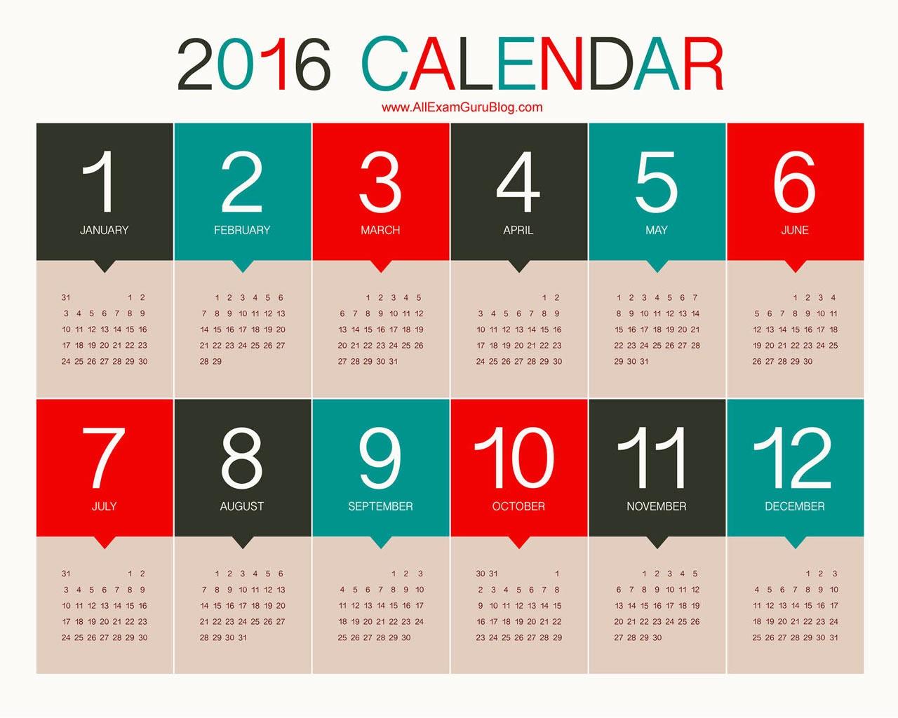 12 Month Calendar for 2016 Best Of 2016 Year Calendar Wallpaper Download Free 2016 Calendar