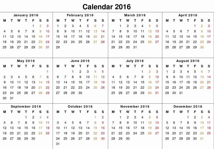 12 Month Calendar for 2016 Elegant New Year 2016 Calendar – Weneedfun
