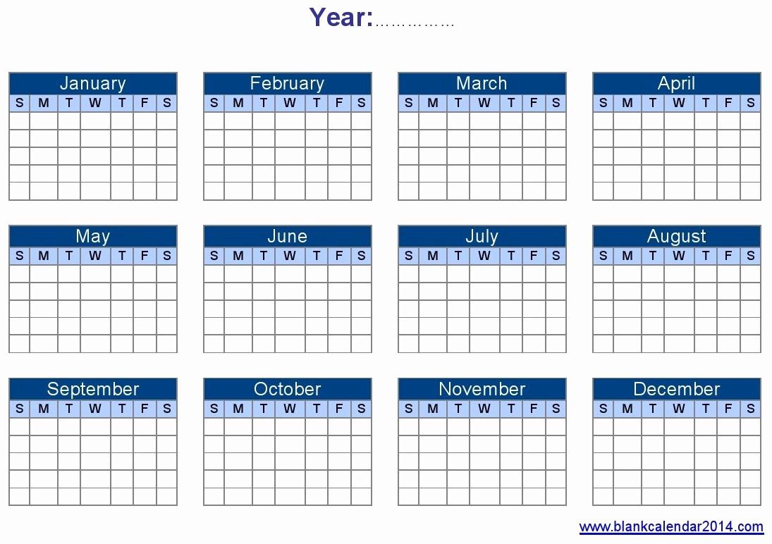 12 Month Calendar for 2016 Elegant Yearly Calendar Template