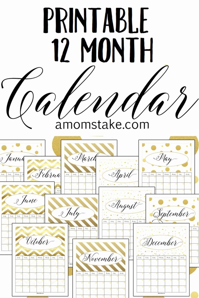 12 Month Calendar for 2016 Inspirational Confessions Of A Plate Addict Please Join Me for the