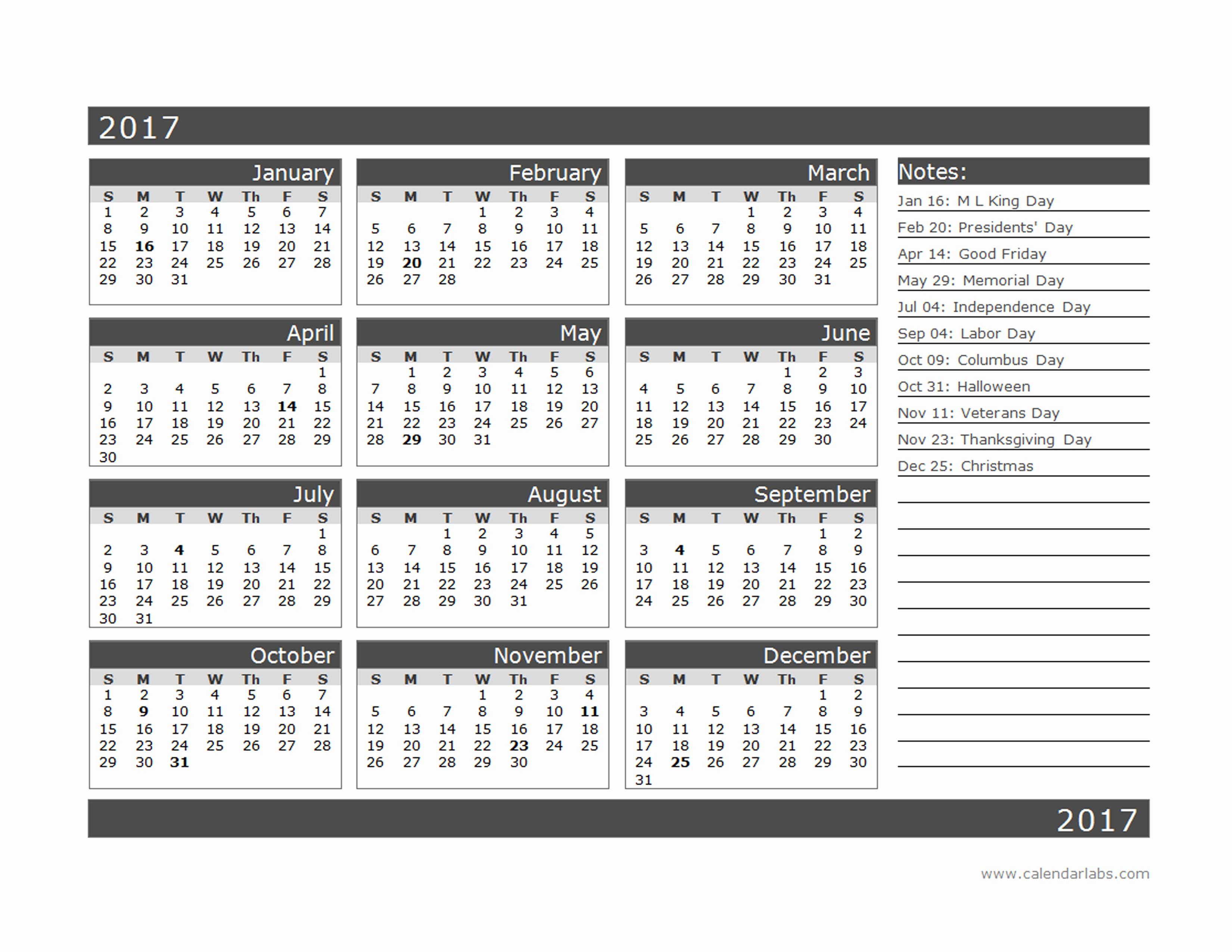 calendar labs 2016 calendar printable