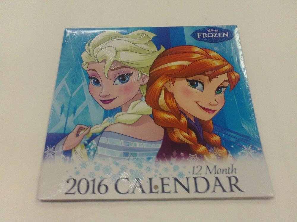 12 Month Calendar for 2016 New Disney Frozen Calendar 2016 Anna and Elsa Princess 12