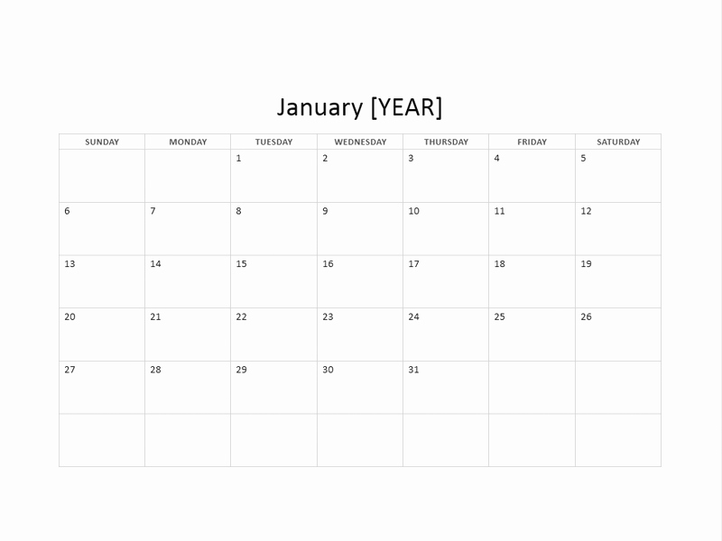 12 Month Calendar Template Word Beautiful 12 Month Basic Calendar Any Year