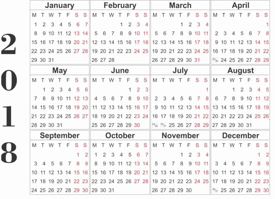12 Month Calendar Template Word Inspirational 12 Month Calendar Template 2018