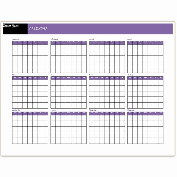 12 Month Calendar Template Word Lovely Download A Free Yearly Calendar Template Word Makes It