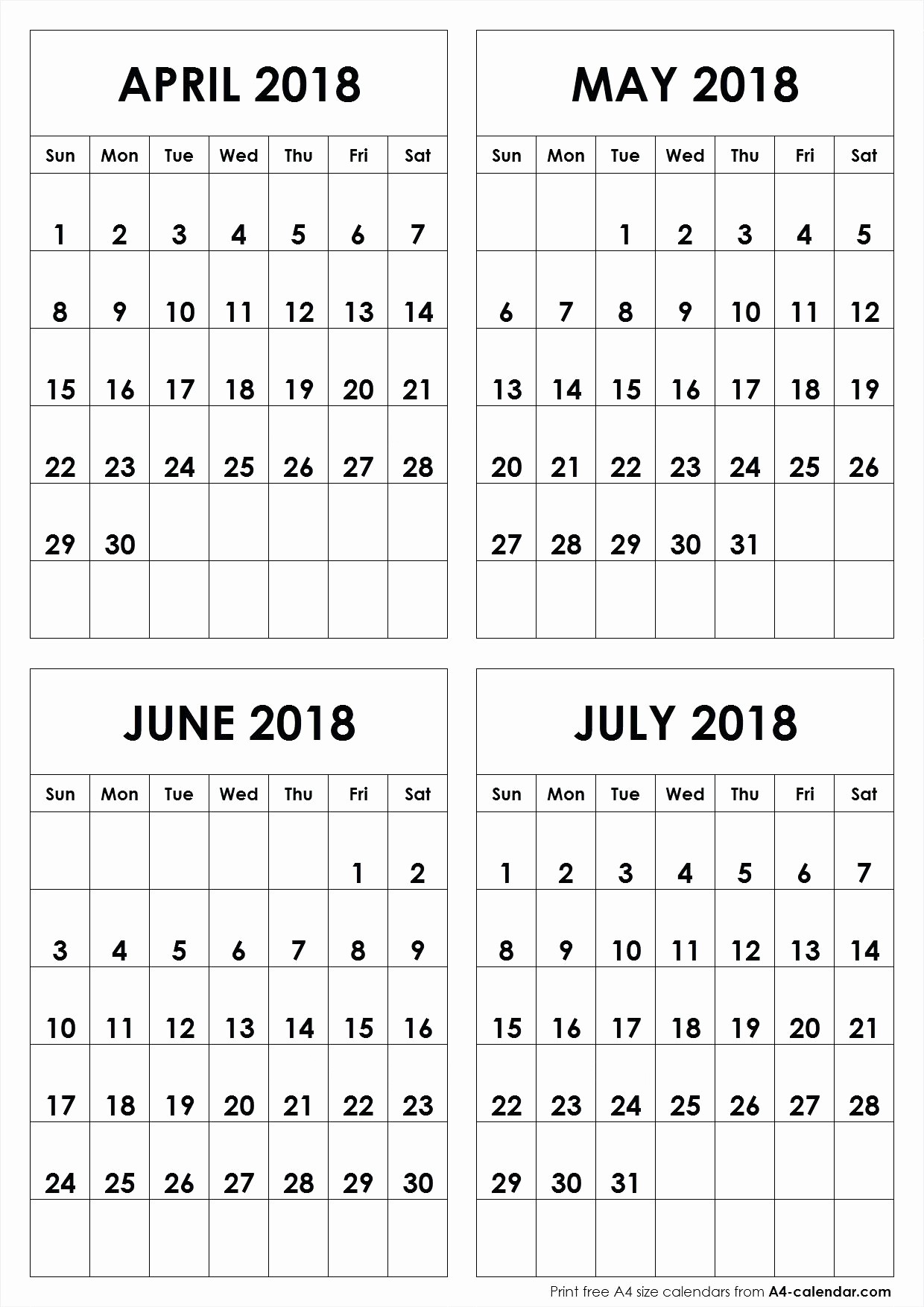 12 Month Calendar Template Word New Four Month Calendar Template