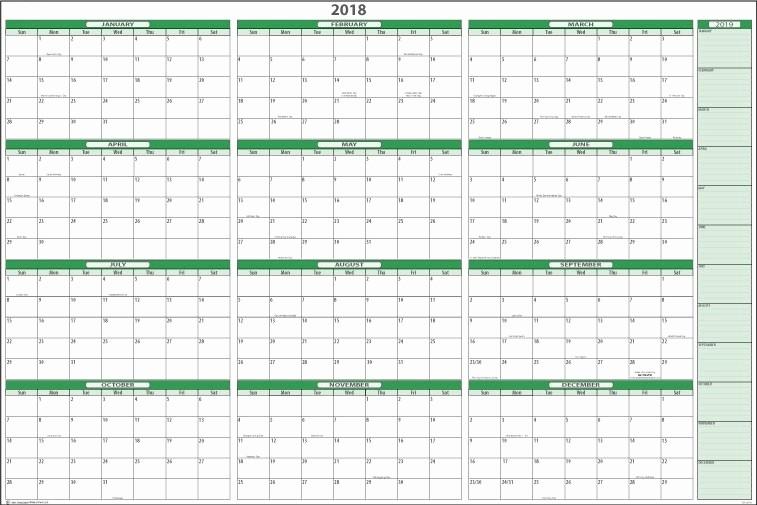 12 Month Calendar Template Word Unique Free Printable 2018 Calendar Template Excel Word