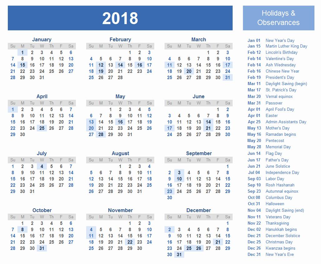 12 Month Printable Calendar 2018 Beautiful 12 Month Calendar 2018 On E Page Twelve Month Printable