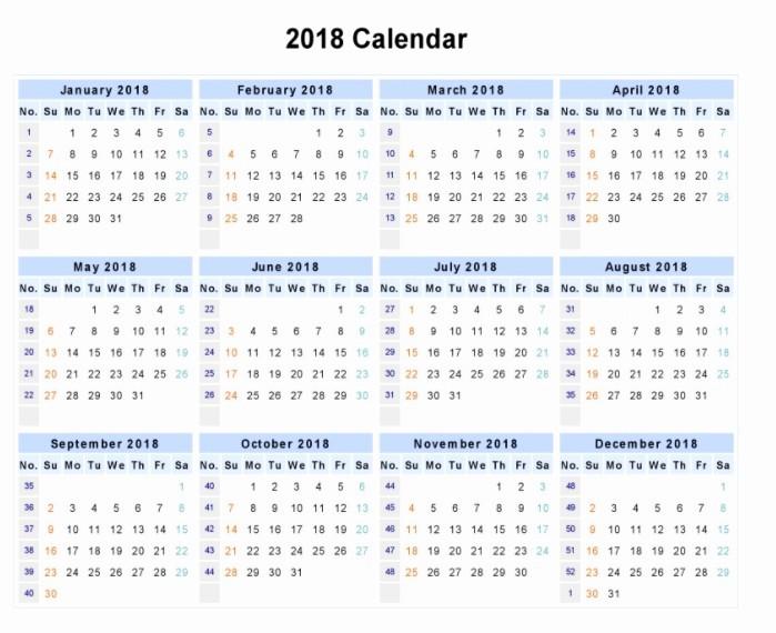 12 Month Printable Calendar 2018 Inspirational Download 12 Month Printable Calendar 2018 From January to