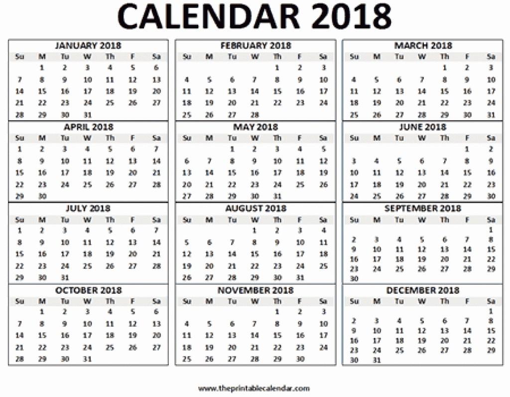 12 Month Printable Calendar 2018 Lovely 12 Month Calendar E Page