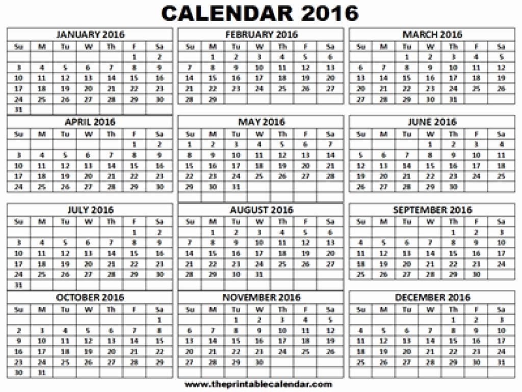12 Months Calendar 2016 Printable Fresh 2016 2017 Calendar Printable E Page 12 Month