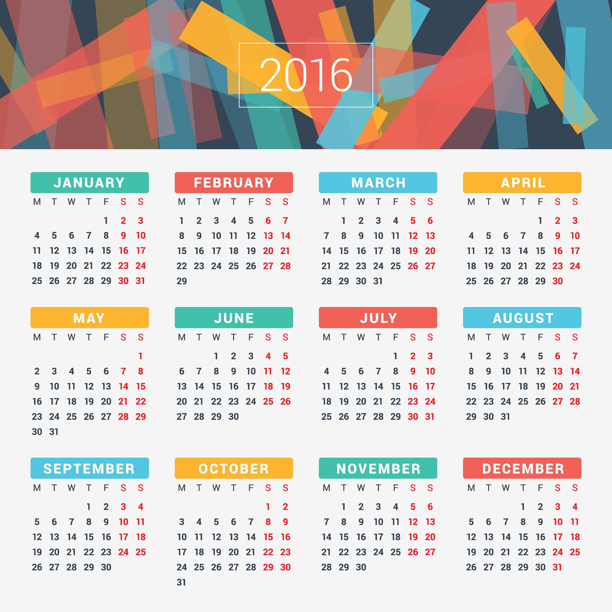 12 Months Calendar 2016 Printable Inspirational 2016 Year Calendar Wallpaper Download Free 2016 Calendar