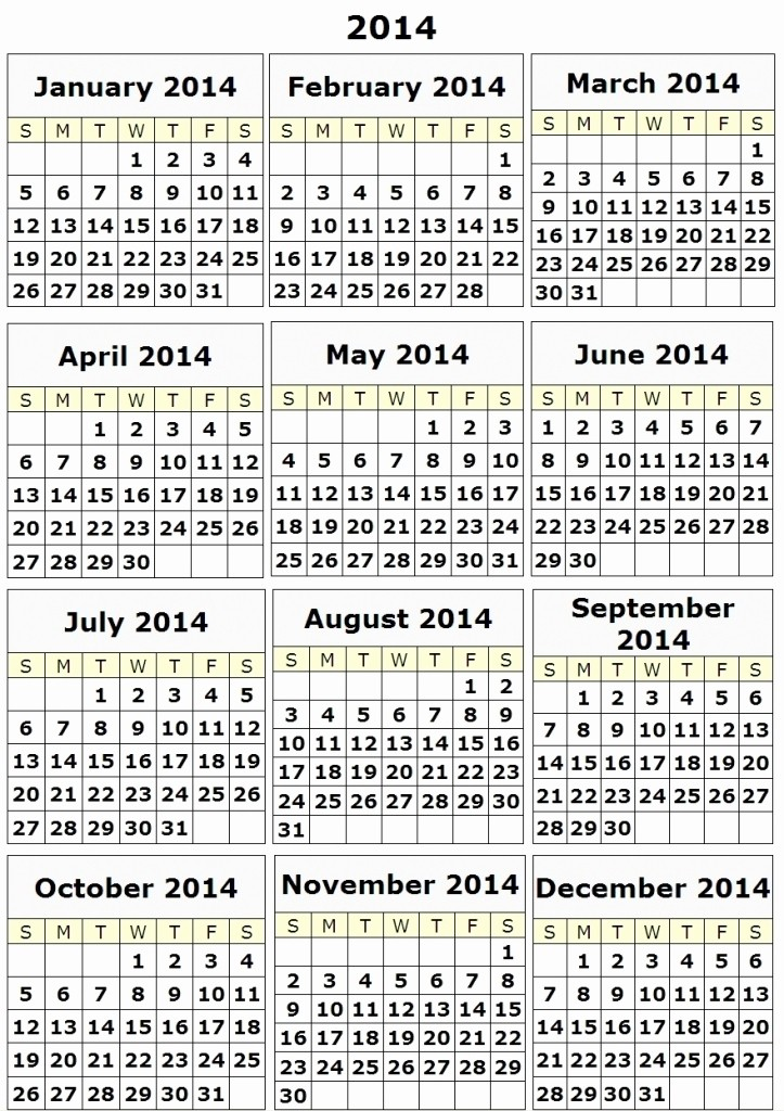 12 Months Calendar 2016 Printable Lovely 12 Month Calendar Template Printable