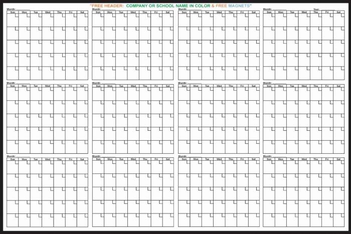 12 Months Calendar 2016 Printable Lovely 12 Month Printable Calendar