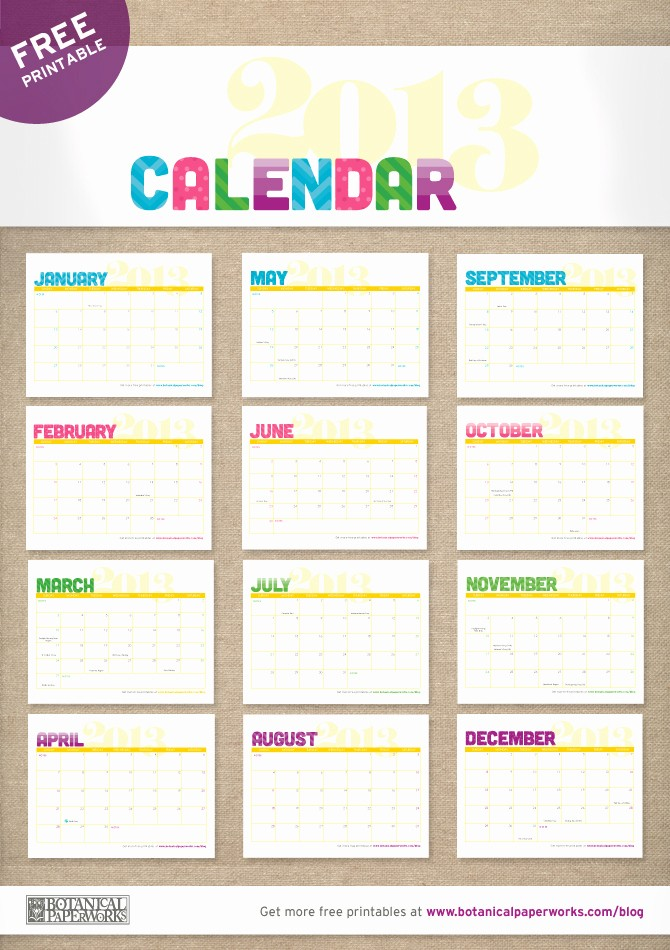 12 Months Calendar 2016 Printable Luxury 12 Months Calendar Printable Calendar Template 2018